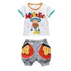 ชุดเสื้อกางเกง-Monkey-สีขาว-(3-ตัว/pack)