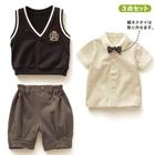 ชุดเสื้อกางเกง-Boys-College-สีขาวเทา-(5-ตัว/pack)