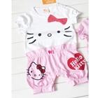 บอดี้สูทคุณหนู-Hello-Kitty-สีขาว-(3-ตัว/pack)