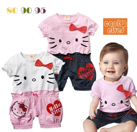 บอดี้สูทคุณหนู Hello Kitty สีชมพู (3 ตัว/pack)