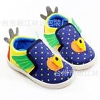 รองเท้าเด็กไก่น้อย-ลายจุด-สีน้ำเงิน-(6-คู่/แพ็ค)