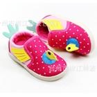 รองเท้าเด็กไก่น้อย-ลายจุด-สีชมพู-(6-คู่/แพ็ค)