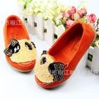รองเท้าเด็กหมีแพนด้า-สีส้ม-(5-คู่/แพ็ค)