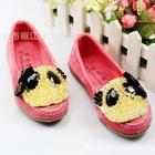 รองเท้าเด็กหมีแพนด้า-สีชมพู-(5-คู่/แพ็ค)