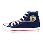 รองเท้าผ้าใบทรงสูง-Star-สีน้ำเงิน-(7-คู่/แพ็ค)