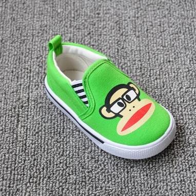 รองเท้าเด็ก Paul Frank สีเขียว (8 คู่/แพ็ค)