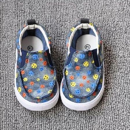 รองเท้าเด็ก Smile หลากสี สีน้ำเงิน (8 คู่/แพ็ค)