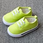 รองเท้าผ้าใบเด็กเชือกร้อย-สีเขียว-(8-คู่/แพ็ค)