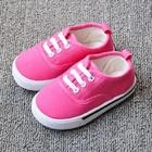 รองเท้าผ้าใบเด็กเชือกร้อย-สีชมพู-(8-คู่/แพ็ค)