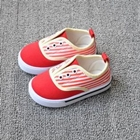รองเท้าผ้าใบเด็ก-สีแดง-(5-คู่/แพ็ค)