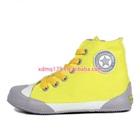 รองเท้าผ้าใบทรงสูง-Starสีเหลืองขอบเทา-(7-คู่/แพ็ค)