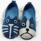 รองเท้าเด็กหมาและแมว-สีน้ำเงินฟ้า-(5-คู่/แพ็ค)