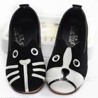 รองเท้าเด็กหมาและแมว-สีดำ-(5-คู่/แพ็ค)