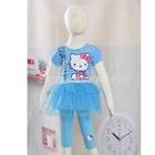 ชุดเดรสและกางเกง-Hello-Kitty-สีฟ้า-(5-ตัว/pack)