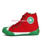 รองเท้าผ้าใบทรงสูง-Star-สีแดงขอบเขียว-(7-คู่/แพ็ค)