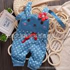 เอี๊ยมยีนส์กระต่ายน้อยลายจุด-สีฟ้า-(5-ตัว/pack)