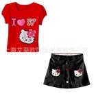 ชุดเสื้อและกระโปรง-I-LOVE-KIMO-สีแดง-(5-ตัว/pack)