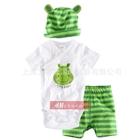 ชุดเสื้อและกางเกงTiny-Hippo-สีเขียว-(4-ตัว/pack)