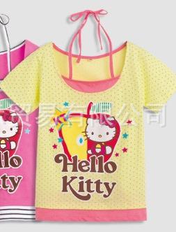 เสื้อแขนสั้น Hello Kitty สีเหลือง (5ตัว/pack)