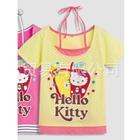 เสื้อแขนสั้น-Hello-Kitty-สีเหลือง-(5ตัว/pack)
