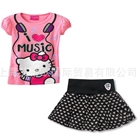 ชุดเสื้อและกระโปรง-Hello-Kitty-สีชมพู-(5-ตัว/pack)