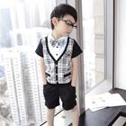 ชุดเสื้อและกางเกงนักเรียนนอก-สีดำ-(5-ตัว/pack)
