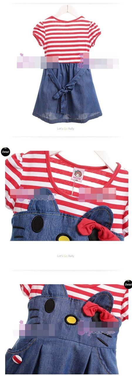 เดรส Hello Kitty โทนสีแดง  (5 size/pack)