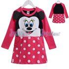 เดรส-Minnie-Mouse-โทนสีชมพูเข้ม-(5-size/pack)