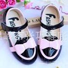 รองเท้าโบว์น่ารัก-สีดำ-(ไซส์เล็ก)-(5-คู่/แพ็ค)