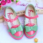 รองเท้าโบว์-สีชมพูเข้ม-(ไซส์เล็ก)-(5-คู่/แพ็ค)