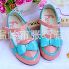 รองเท้าโบว์-สีชมพูอ่อน-(ไซส์เล็ก)(5-คู่/แพ็ค)
