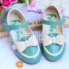 รองเท้าโบว์น่ารัก-สีฟ้า-(ไซส์เล็ก)(5-คู่/แพ็ค)