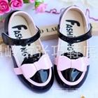 รองเท้าเด็กโบว์น่ารัก-สีดำไซส์ใหญ่-(5-คู่/แพ็ค)