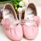 รองเท้าเด็กหญิงดอกไม้น่ารัก-สีชมพูอ่อน(5-คู่/แพ็ค)
