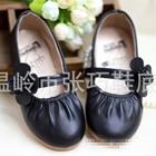 รองเท้าเด็กหญิงดอกไม้น่ารัก-สีดำ-(5-คู่/แพ็ค)