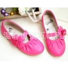 รองเท้าเด็กหญิงดอกไม้น่ารัก-สีชมพูเข้ม(5-คู่/แพ็ค)