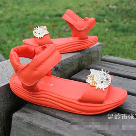 รองเท้า Hello Kitty สีส้ม (ไซส์เล็ก)(5 คู่/แพ็ค)