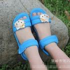 รองเท้า--Hello-Kitty-สีฟ้า-(ไซส์ใหญ่)-(5-คู่/แพ็ค)