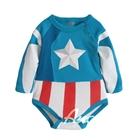 บอดี้สูทเด็ก-Captain-America-สีฟ้า-(6-ตัว/pack)