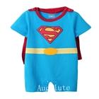 บอดี้สูทเด็ก-Superman-สีฟ้า-(6-ตัว/pack)