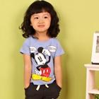 เสื้อยืด-Mickey-Mouse-สีม่วงอ่อน-(5size/pack)