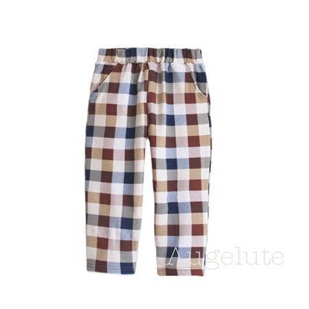 กางเกงยาวลายตาราง คละสี (10 ตัว/pack)