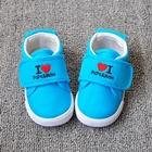 รองเท้าเด็ก-Love-Mom-Dad-สีฟ้า-(8-คู่/แพ็ค)