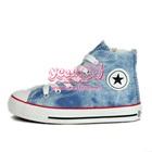 รองเท้าผ้าใบทรงสูง-Star-สีฟ้าซิปข้าง-(7-คู่/แพ็ค)