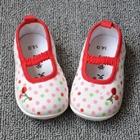 รองเท้าเด็กลายจุดเชอรี่-สีขาว-(4-คู่/แพ็ค)