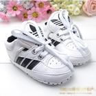 รองเท้าผ้าใบเด็ก-Adidas-สีขาวแถบดำ-(6-คู่/pack)