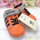 รองเท้าผ้าใบเด็ก-Adidas-สีส้มแถบดำ-(6-คู่/pack)