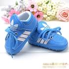 รองเท้าผ้าใบเด็ก-Adidas-สีฟ้าแถบขาว-(6-คู่/pack)
