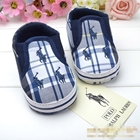รองเท้าเด็ก-POLO-ลายตารางสีน้ำเงิน--(6-คู่/pack)