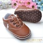 รองเท้าเด็ก-POLO-สีน้ำตาล-(6-คู่/pack)